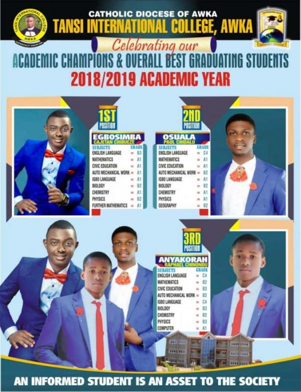 Best Graduating Students 2018-2019